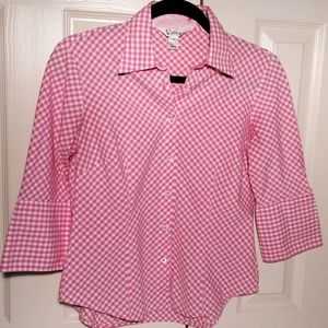 Lilly Pulitzer Tops - Lilly Pulitzer Gingham Camp Shirt