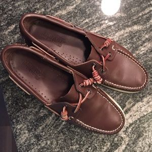 Sebago Shoes - Sebago Docksiders Leather in Brown Elk Sz 9