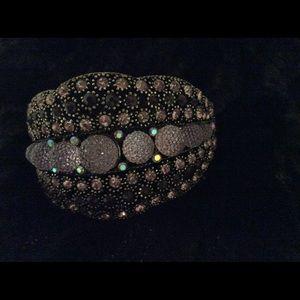 Antique Gold and Purple Bracelet