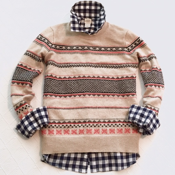 49% off J. Crew Factory Sweaters - j.crew factory | fair isle ...
