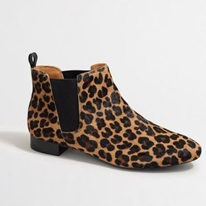 J. Crew Shoes - NWT J. Crew Calf Hair Leopard Ankle Booties