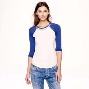 NWT J. Crew Jeweled Baseball Tee