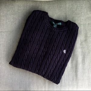 Ralph Lauren Classic Cotton Cable Knit Sweater