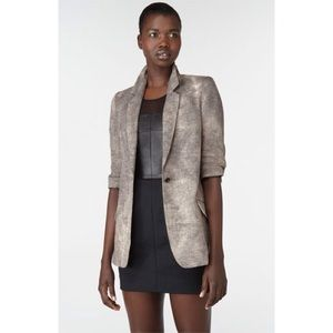 "Elizabeth & James ""James"" Distressed Linen Blazer"