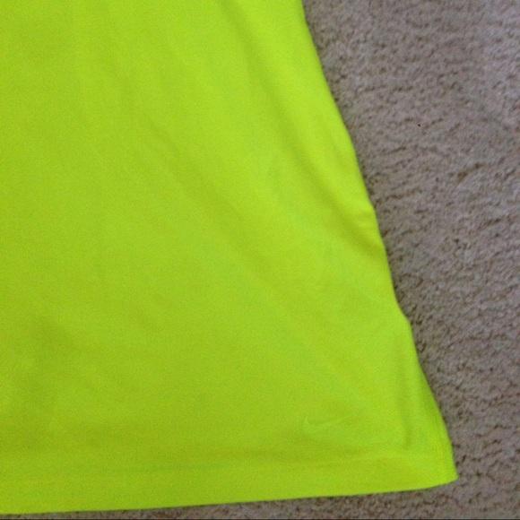 Nike Tops - Nike fluorescent yellow racerback tank size XS