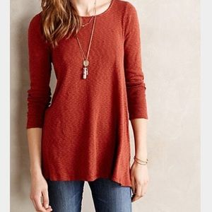 Anthropologie Black A-Line Top