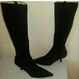f0c39fc046b CHANEL Shoes - Chanel knee high calfskin black kitten heels boots