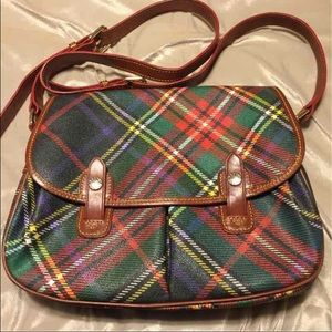 Dooney & Bourke plaid messenger bag