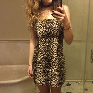 Vintage Cache Cheetah Print Dress