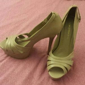 Brand New 5 inch sand colored heels