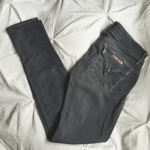 Gray Hudson skinny jeans