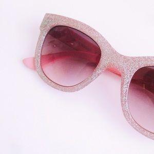 Steve Madden Pink Glitter Sunglasses