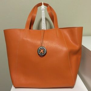 Alberta Di Canio Saffiano Massima Leather Tote