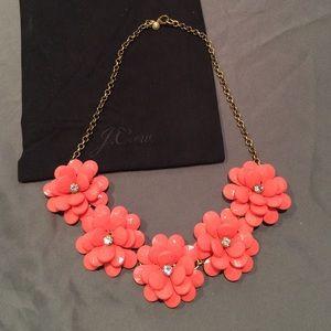 J. Crew Jewelry - J Crew Coral Flower Necklace