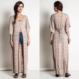 """Dazzle"" Asymmetrical Maxi Top"