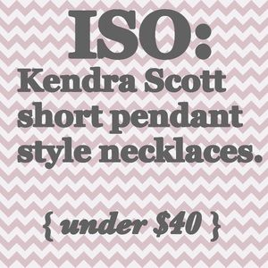 { in search of } •Kendra Scott Pendant Necklaces•