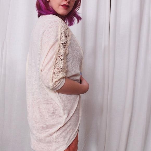 Sweaters - HALF OFF SALE | Cream Lace Cardigan