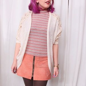 HALF OFF SALE | Cream Lace Cardigan