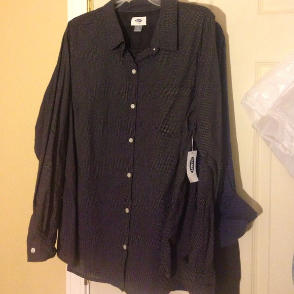 50% off Old Navy Tops - Women black button up shirt from Narie's ...