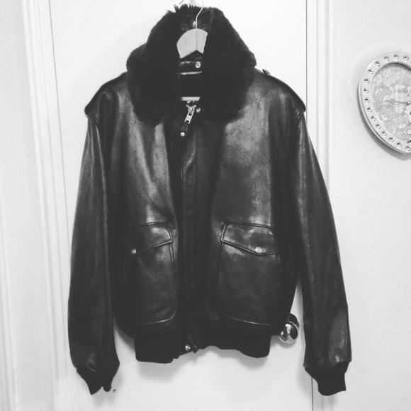 2ec0e5a5f Schott nyc leather bomber flight jacket for men
