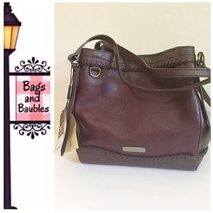 Burberry Handbags - NWT• BURBERRY Small Canterbury Hobo, Plum