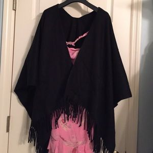 Jackets & Blazers - Black wrap around poncho