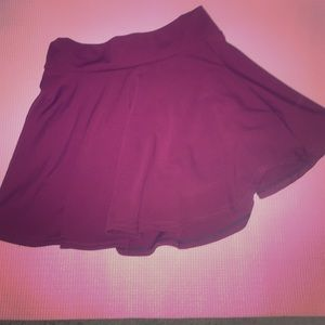 Maroon/wine red skater skirt.