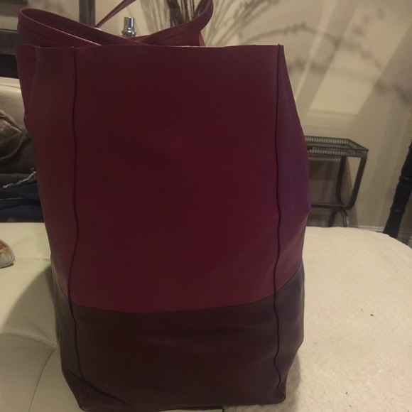 57% off Celine Handbags - Celine cabas tote bag bi color orchid ...
