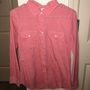 J.Crew button down red shirt