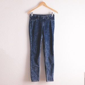UNIQLO denim jeggings blue & black wash bundle (2)