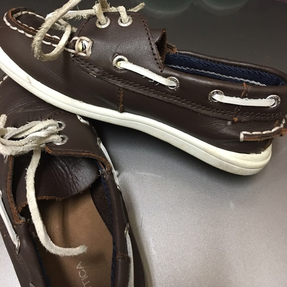 Nautica Other - Super cute leather kid Nautical boat shoes!