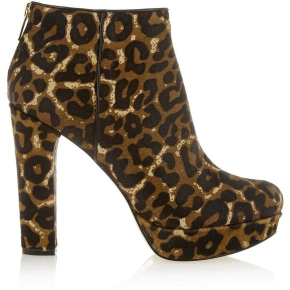 michael kors leopard print boots