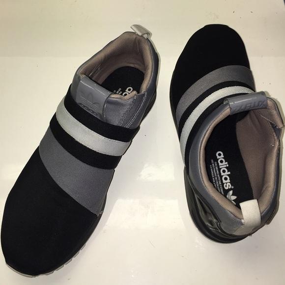 online retailer 29683 762ab adidas mi ZX Flux slip on Sneakers Magazine