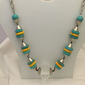 HP Sterling Silver Necklace w/Turquoise Stone