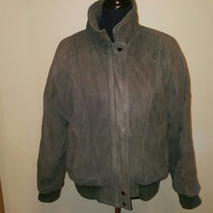 Pea Green Leather Jacket