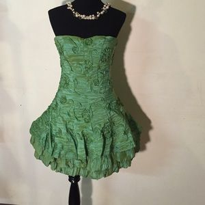 Green cocktail dress