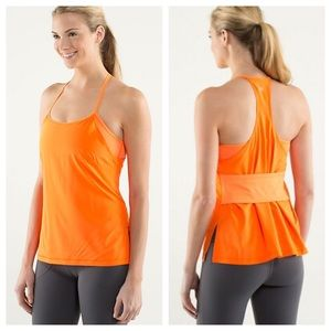 Lululemon Amped Yoga Tank Pizazz Orange Sz 6