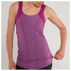 Lululemon Run For Your Life Tank Raspberry Size 6