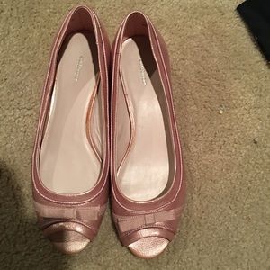 Croft & Barrow Shoes - Pink dress shoes with a ribbon bow