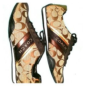 Brown coach shoes