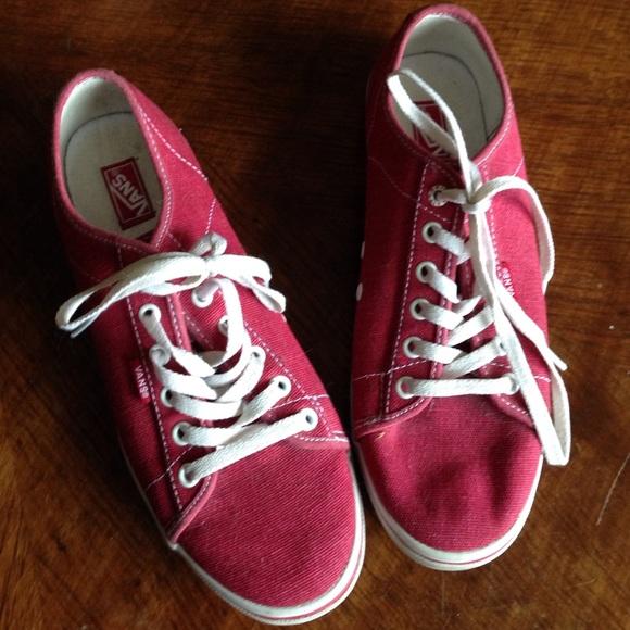 c6d0cc6b5d9c6f Vans Shoes - Red Vans