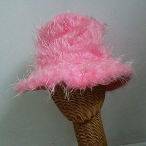 90s Bubblegum Pink Fuzzy Hat