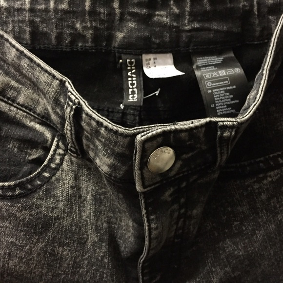 big selection latest trends select for latest Divided by H&M Black Moto Jeans
