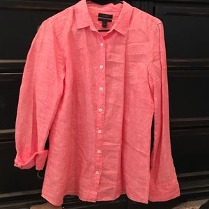 Peach chambray shirt
