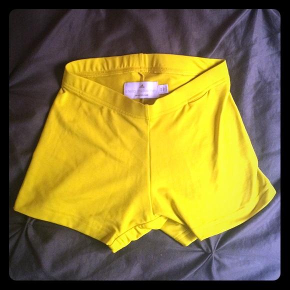 Adidas De Stella Mccartney Pantalones Cortos De Color Amarillo JpCVQ3CgM