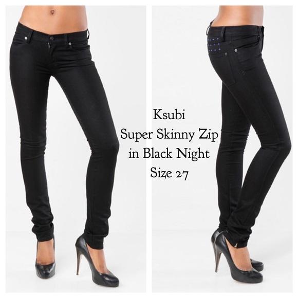 94319c9217 Ksubi Denim - Ksubi👖Super Skinny Zip in Black Night