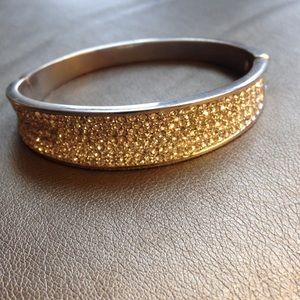 Pave crystal bangle bracelet