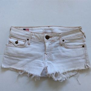 True religion white Joey cut off shorts 27