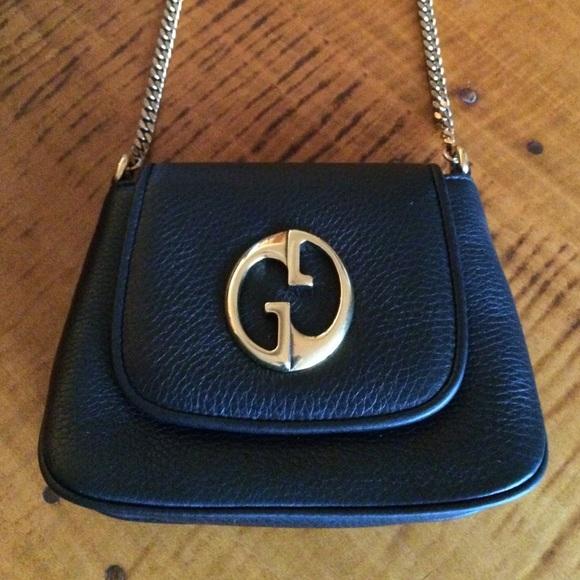 694724f6374ebe Gucci Bags | New Retro Black Leather Crossbody | Poshmark