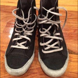 Seavees Shoes - SeaVees Calf Hair Toes Detail Suede Body Black